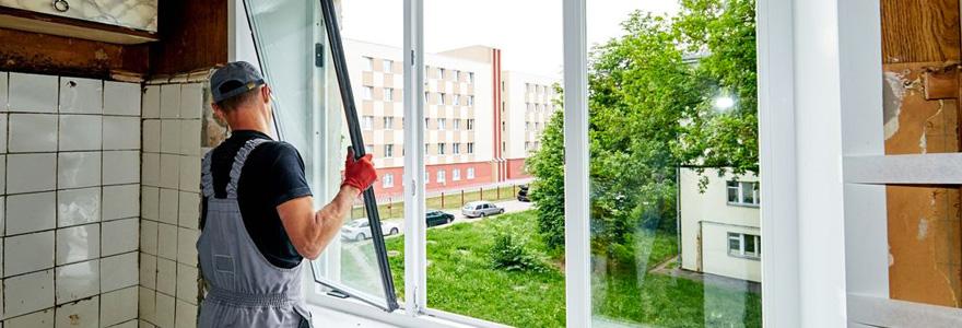 pose de fenêtres